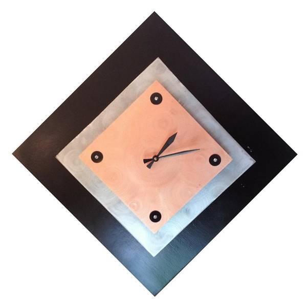 James Johnson Wall Art - Mixed Media - Copper Clock by James Johnson