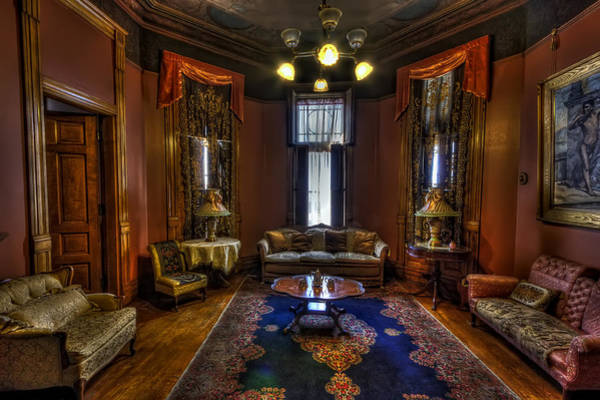 Lead Mine Wall Art - Photograph - Copper King Mansion Bedroom Parlor - Butte Montana by Daniel Hagerman