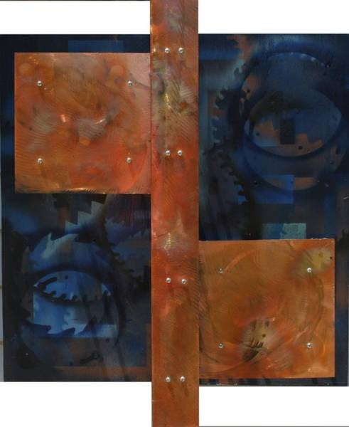 James Johnson Painting - Copper On Wood 2 by James Johnson