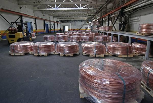 Wire Wrap Photograph - Copper Wire Bales by Ria Novosti