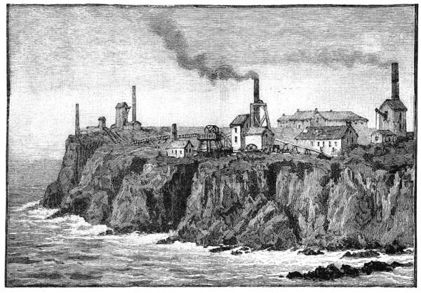 Penwith Photograph - Cornish Tin Mines, 19th Century by