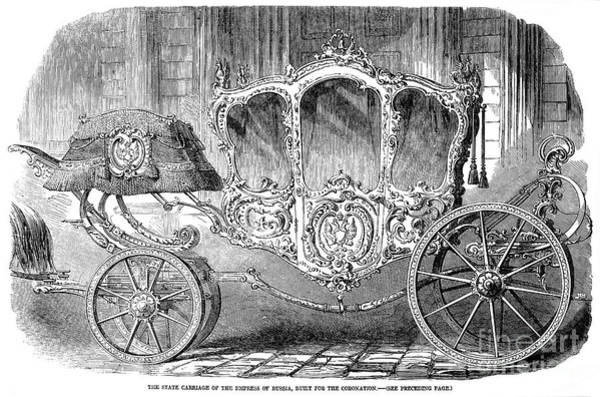 Imperial Russia Photograph - Coronation Carriage, 1855 by Granger