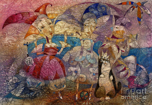 Wall Art - Mixed Media - Coronation Of The Cat  by Svetlana and Sabir Gadghievs