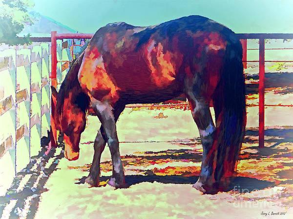 Corraled Horse Art Print
