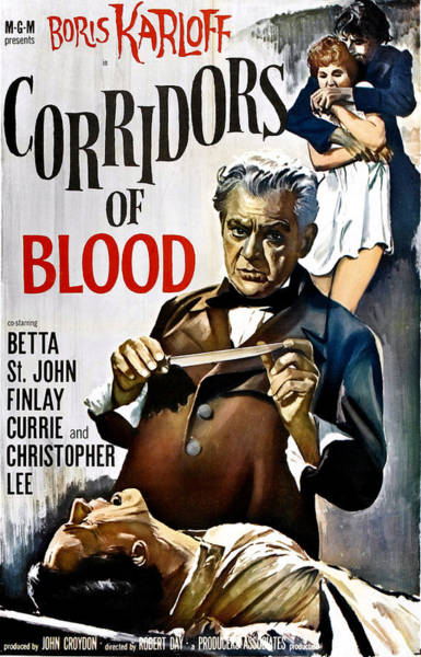 1958 Movies Photograph - Corridors Of Blood, Boris Karloff, 1958 by Everett
