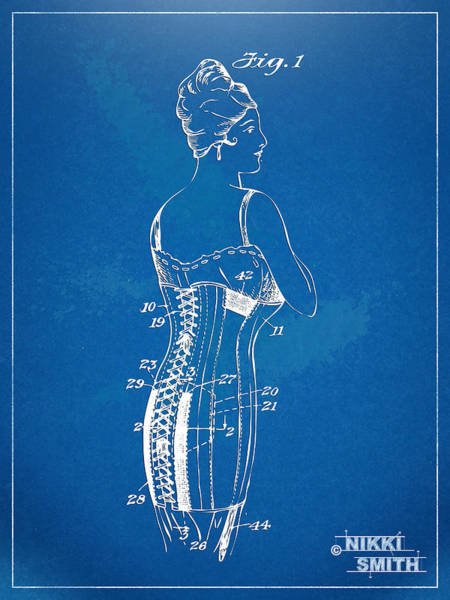 Wall Art - Digital Art - Corset Patent Series 1924 by Nikki Marie Smith