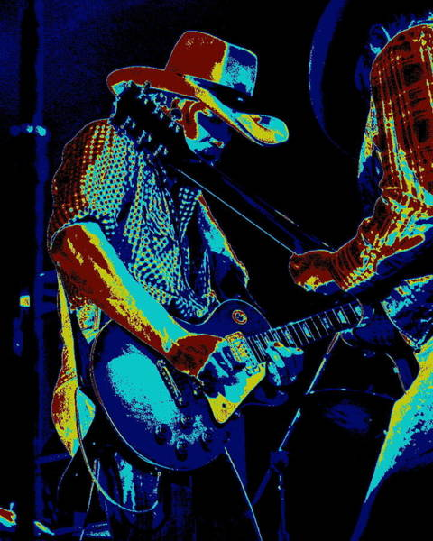 Photograph - Cosmic Cdb At Winterland In 1975 by Ben Upham