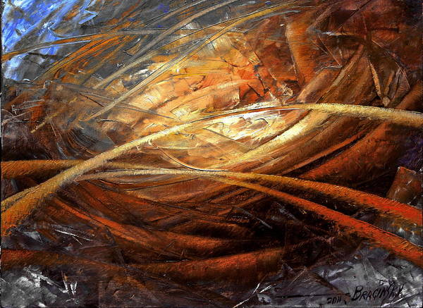 Abstraction Painting - Cosmic Strings by Arthur Braginsky