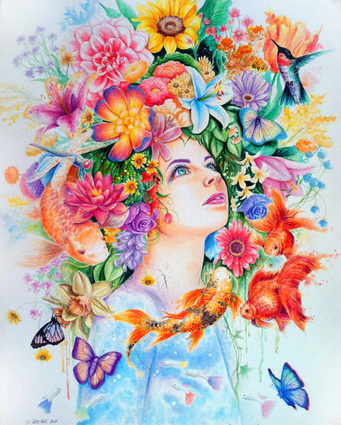 Wall Art - Drawing - Cosmos by Callie Fink