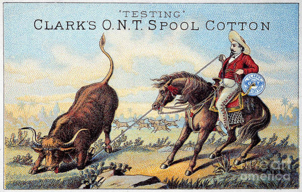 Photograph - Cotton Thread Trade Card by Granger