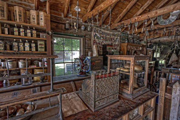 Wall Art - Photograph - Counter Of Old West General Store - Montana by Daniel Hagerman