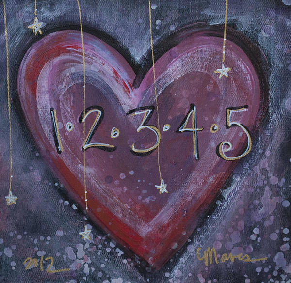 Painting - Counting Heart by Laurie Maves ART