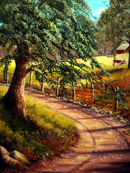 Wall Art - Painting - Country Road by David G Paul