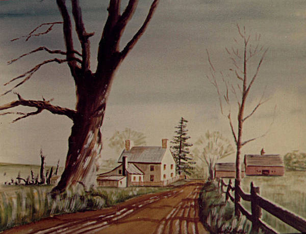 Painting - Country Road by Frank Hunter