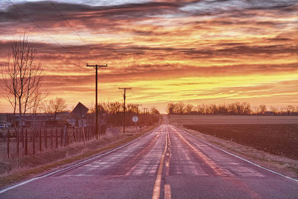 Photograph - Country Road Sunrise by James BO Insogna