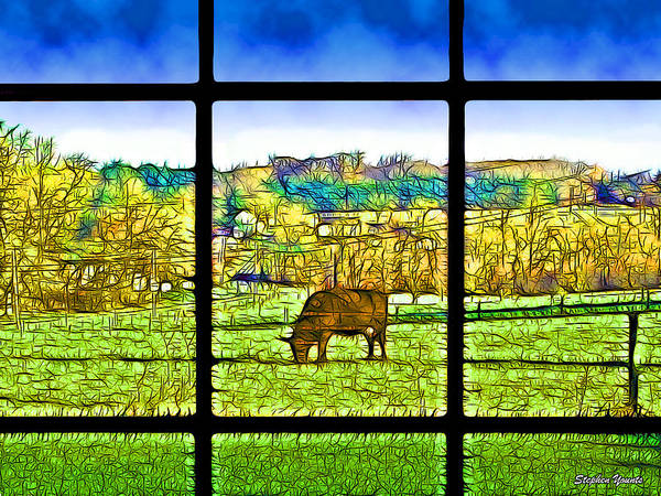 Milk Farm Mixed Media - Country View by Stephen Younts