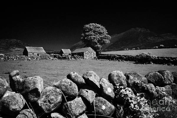 Boundary County Photograph - Countryside Beneath Slieve Binnian In The Mourne Mountains Northern Ireland by Joe Fox