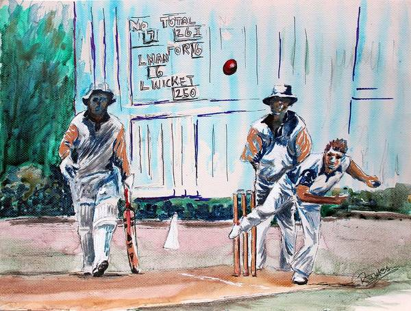 Painting - County Cricket by Richard Jules