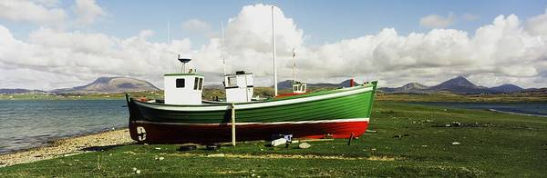 Dock Of The Bay Photograph - County Donegal, Ireland Boat Docked On by The Irish Image Collection