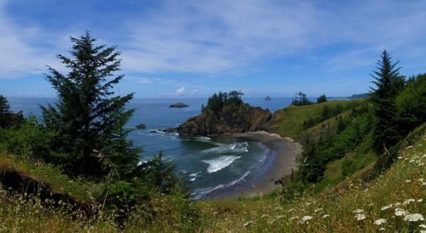 Oregon Coast Mixed Media - Cove 1 by Tatiacha  Bhodsvatan
