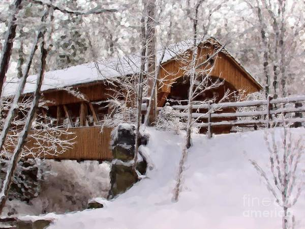Covered Bridge At Olmsted Falls - 2 Art Print