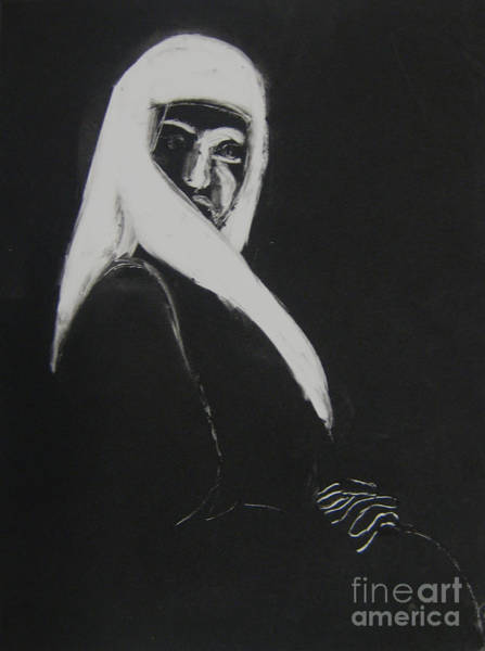 Drawing - Waiting by Gabrielle Wilson-Sealy