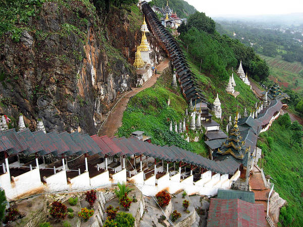 Photograph - Covered Stairway To The Pindaya Caves by RicardMN Photography