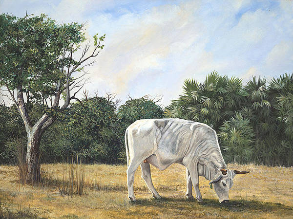 Painting - Cow by AnnaJo Vahle