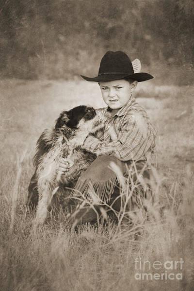 Digital Art - Cowboy And Dog by Cindy Singleton