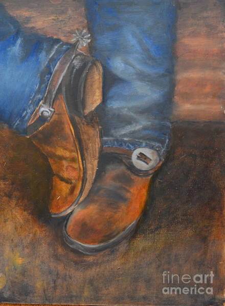 Wall Art - Painting - Cowboy Up by Patricia Caldwell