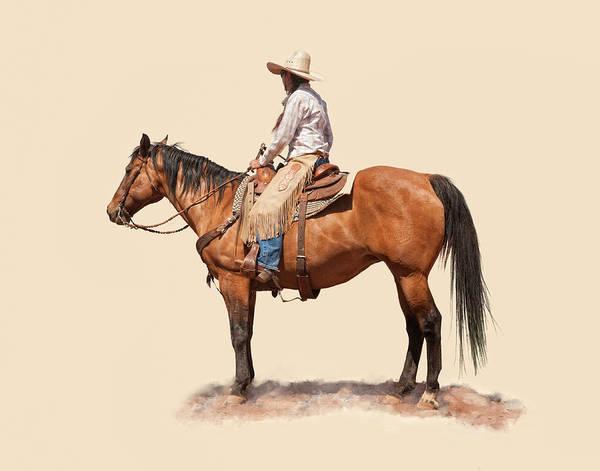 Ranch Digital Art - Cowgirl by Dewain Maney
