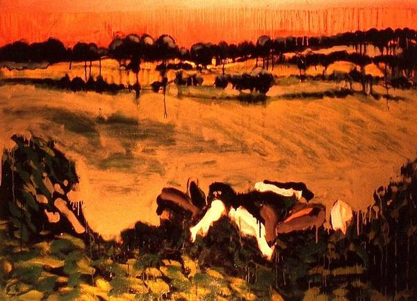 Painting - Cows Eating Kudzu by Les Leffingwell