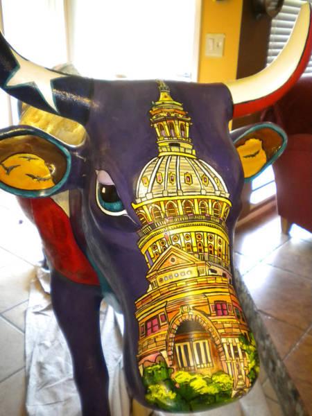 Painting - Cows Face by Patti Schermerhorn