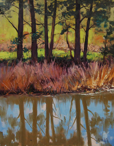 Plein-air Painting - Coxs River Bank by Graham Gercken