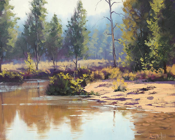 Reflections Painting - Coxs River by Graham Gercken