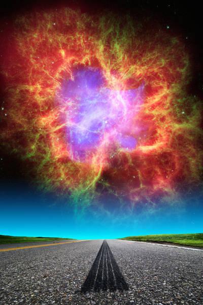 Photograph - Crab Nebula Highway by Larry Landolfi