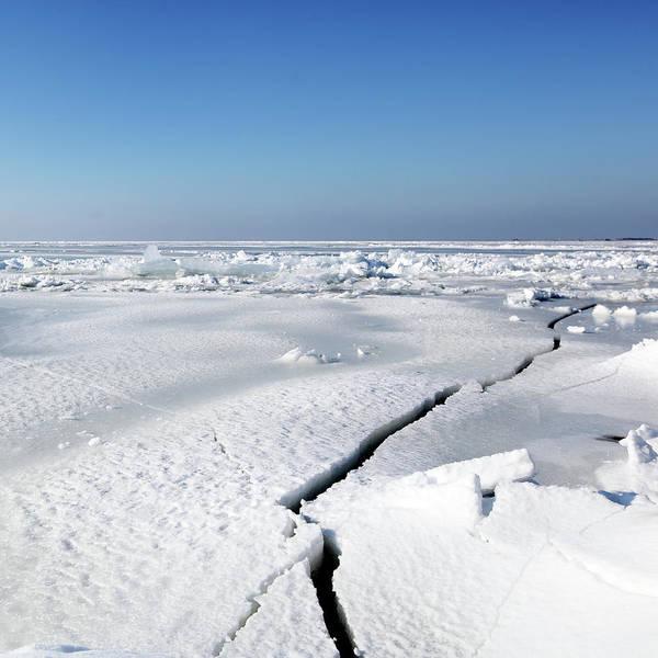 Cracked Photograph - Cracks In Ice by Marcel ter Bekke