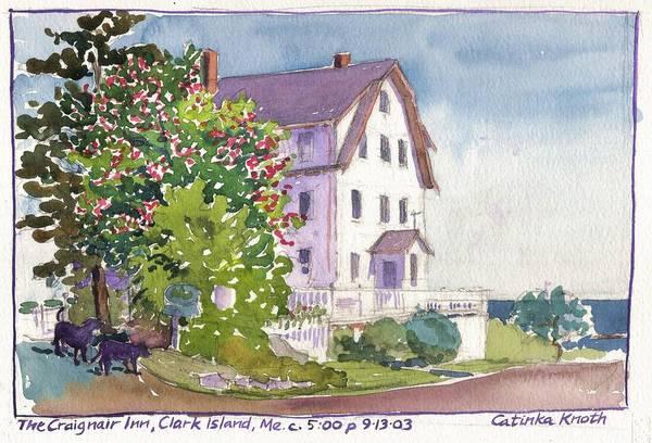 Painting - Craignair Inn Clark Island Maine Large Version by Catinka Knoth