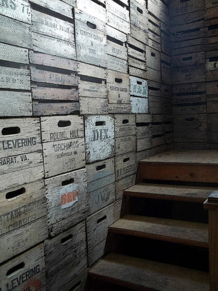 Photograph - Crate Wall With Stairs by Anne Cameron Cutri