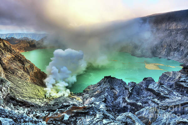 Brimstone Photograph - Crater Ijen by MotHaiBaPhoto Prints