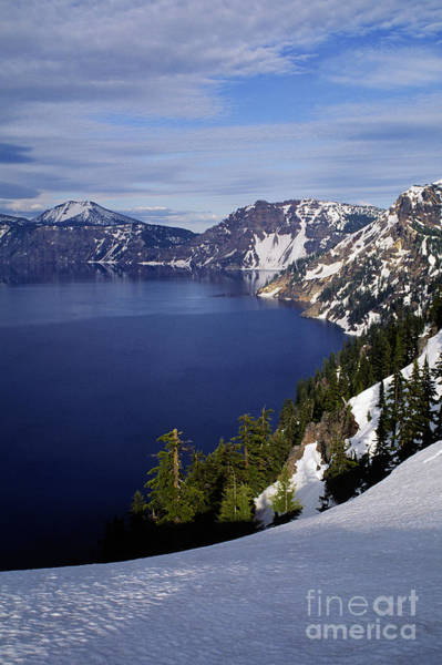 Crater Lake Np Photograph - Crater Lake - Oregon by Craig Lovell