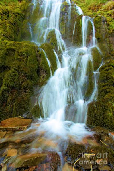 Wall Art - Photograph - Crater Lake Vidae Falls by Adam Jewell