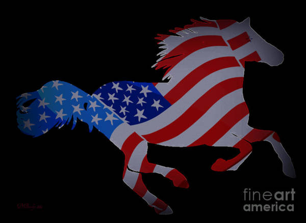 Digital Art - Crazy Horse by Donna Bentley