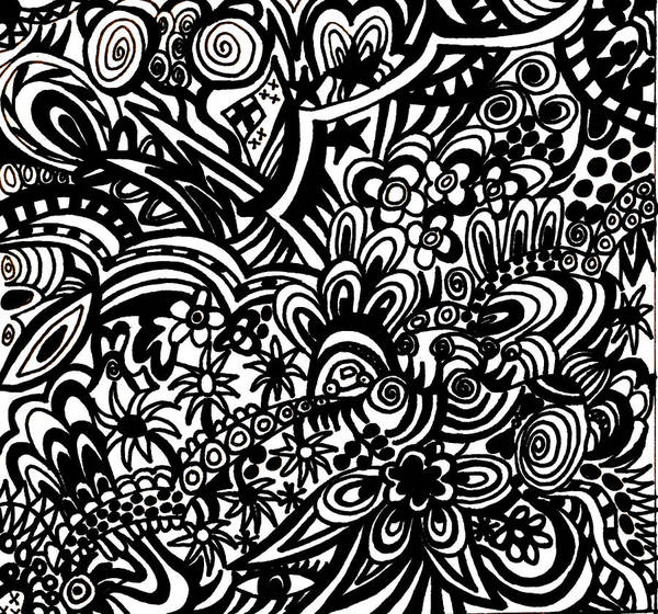 Wall Art - Drawing - Crazy World We Live In by Karen Elzinga