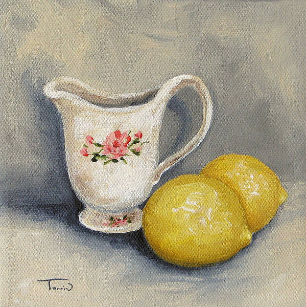 Wall Art - Painting - Cream With Lemons by Torrie Smiley