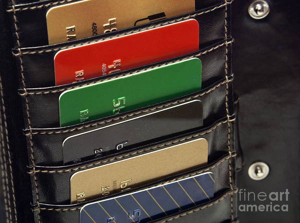 Wall Art - Photograph - Credit Cards In Wallet by Blink Images