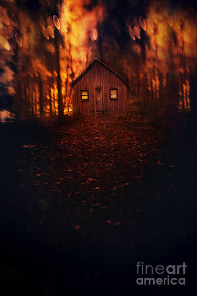Photograph - Creepy Cabin In The Woods by Sandra Cunningham
