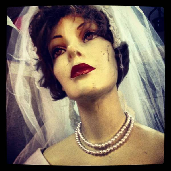 Photograph - Creepy Vintage Bride by Lora Mercado