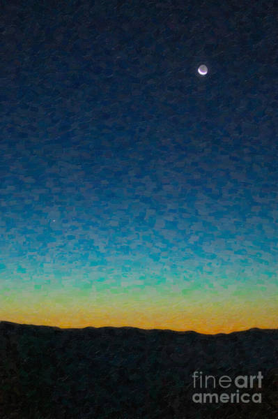 Photograph - Crescent Moon And Mercury In Oil by Clarence Holmes
