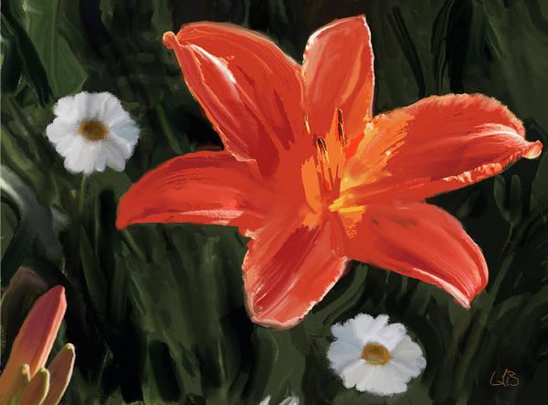 Digital Art - Crimson Lily Day 4 by Gary Baird